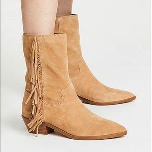 New Rebecca Minkoff Krissa Fringed Bootie Size 6